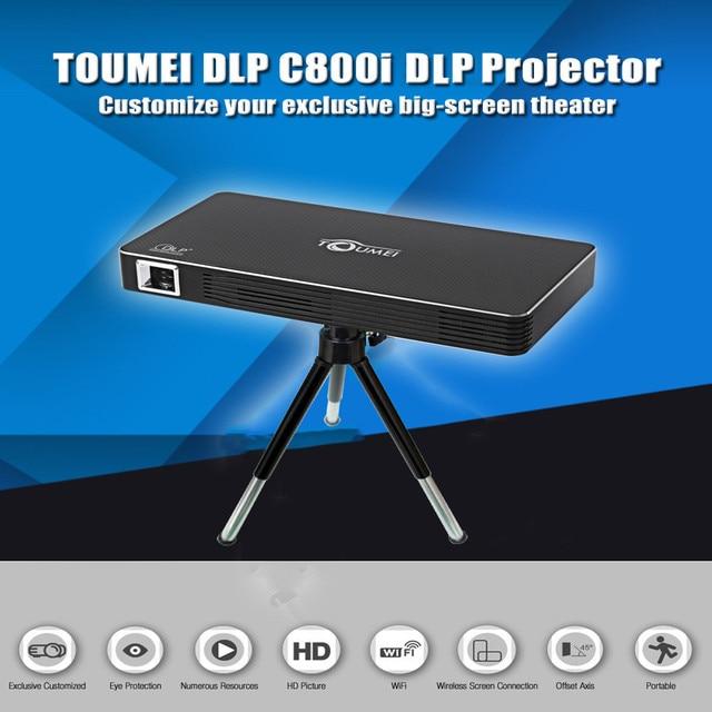 TOUMEI C800i DLP Mini Projetor Android 4.4 80 Lumens 854x480 Pixels 1080 P Dual Band Wi-fi Bluetooth 4.0 Home Theater Projetor