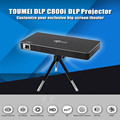 TOUMEI C800i DLP Mini Proyector Android 4.4 80 Lúmenes 854x480 Píxeles 1080 P Dual Band WiFi Bluetooth 4.0 de Cine En Casa Proyector