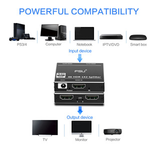Image 4 - 1 ב 2 מתוך HDMI ספליטר 2.0 מתאם 1x2 HDCP 2.2 4K 60Hz HDR HDMI מתג switcher וידאו כבלים עבור HDTV DVD PS4 XBOX HDMI כבל