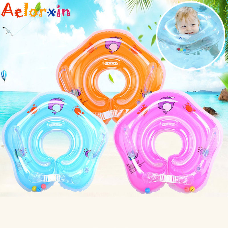 Newborns Inflatable Wheels PoolBathing Circle Swimming Baby Accessories Ring Tube Newborns Bathing Circle Safety Neck Float
