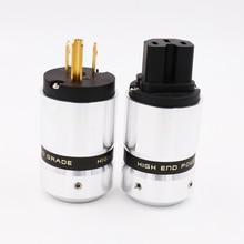 X OEM Hifi audio gold überzogene US AC power stecker verlängerung adapter