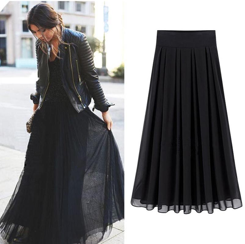 Women's Long Maxi Skirts. Maxi skirts are a hot trend this year. They work really well for tall women. These long skirts look fine worn anywhere from mid-calf to the floor. For a casual look, wear with some flat sandals and a t-shirt. For a dressy look, pair with a sexy tank, or blouse and throw on .