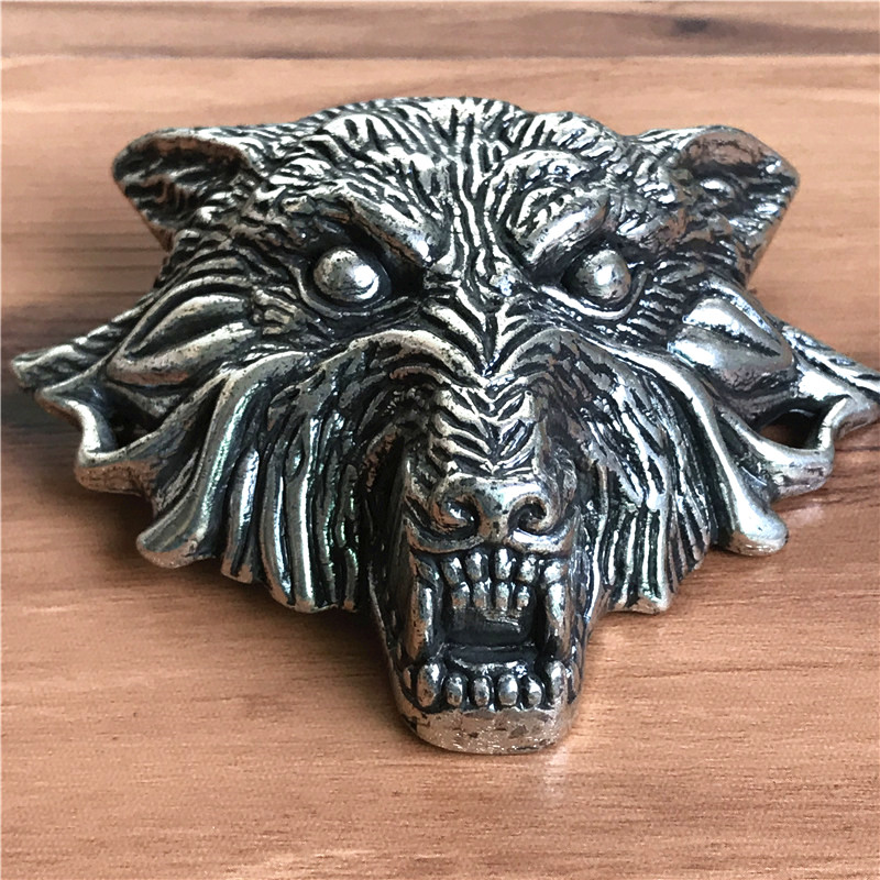 Hot Sell Wolf Head Belt Buckle For Men Belt Diy Accessories Top Quality Alloy Metal Buckle AK0014