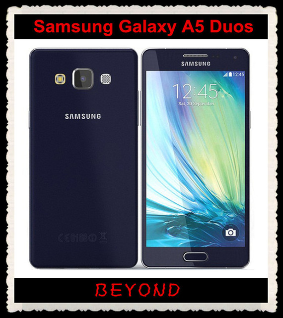 Samsung Galaxy A5 Duos Original Debloque 4g GSM Android Sim Double Telephone Portable A5000 Quad Core