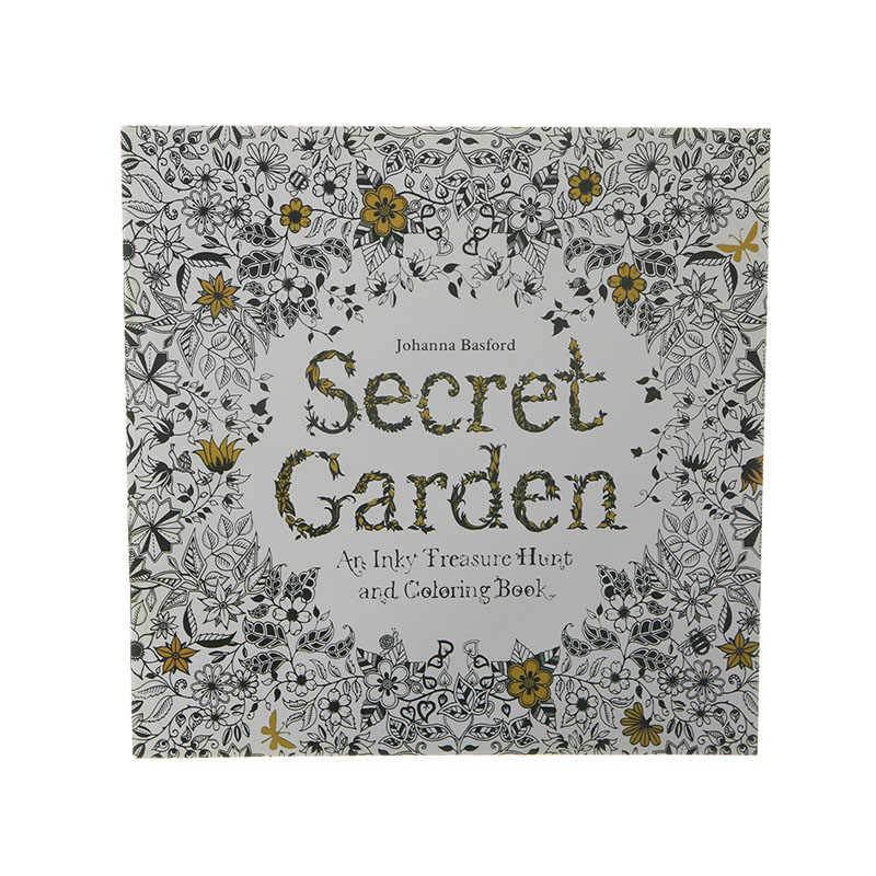 24ページ秘密英語絵画大人解凍手描き着色落書き図書子供文具オフィス用品1ピース