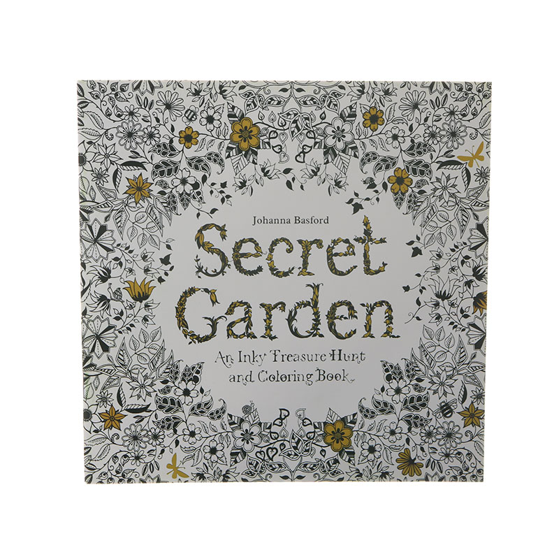 24 Page Secret English Painting Adult Decompression Hand-painted Coloring Doodle Books Children Stationery Office Supplies 1pc
