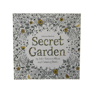 24 Page Secret English Painting Adult Decompression Hand-painted Coloring Doodle Books Children Stationery Office Supplies 1pc(China)
