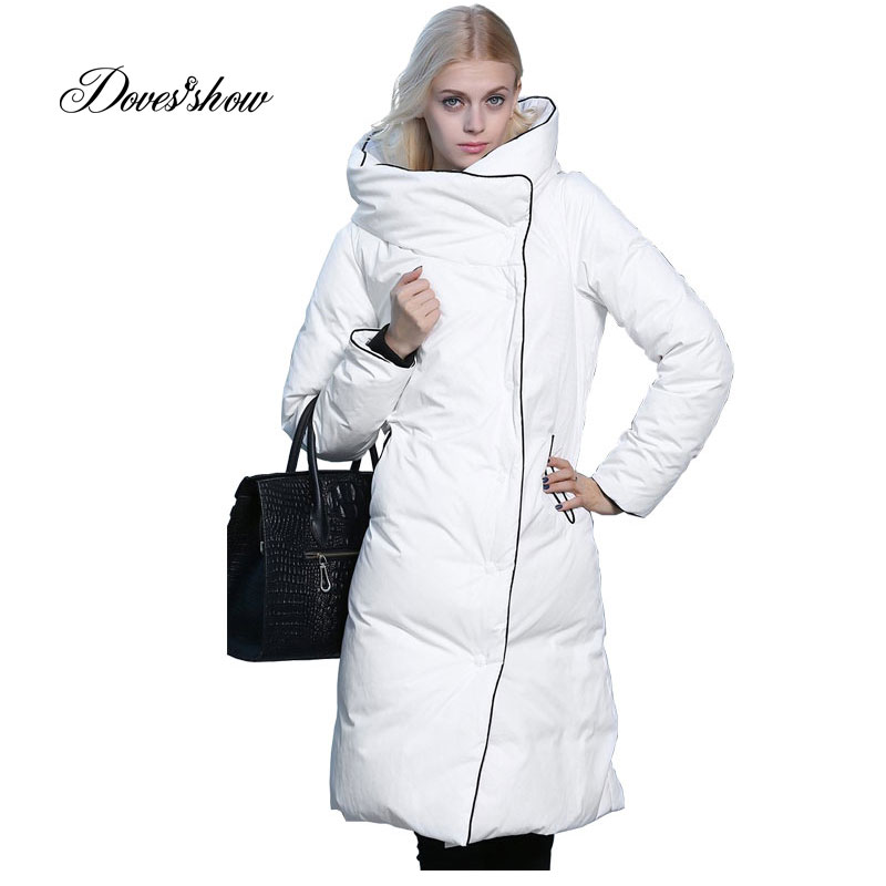 2017 New Winter 90% White Duck   Down     Coat   Vest Thick Warm Slim Women Fashion   Down   Jacket Casaco Feminino Female Jacket Oversized