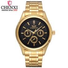 CHENXI Marcas Top de Lujo de Oro de Cuarzo de Los Hombres Reloj Masculino Impermeable de Acero Inoxidable Reloj de Pulsera Famoso Regalo de Moda Reloj de Hombre Relojes