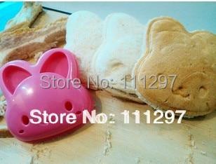 wholesale Free shipping carton rabbit bunny hare shape sandwich bread mold kitchen DIY maker