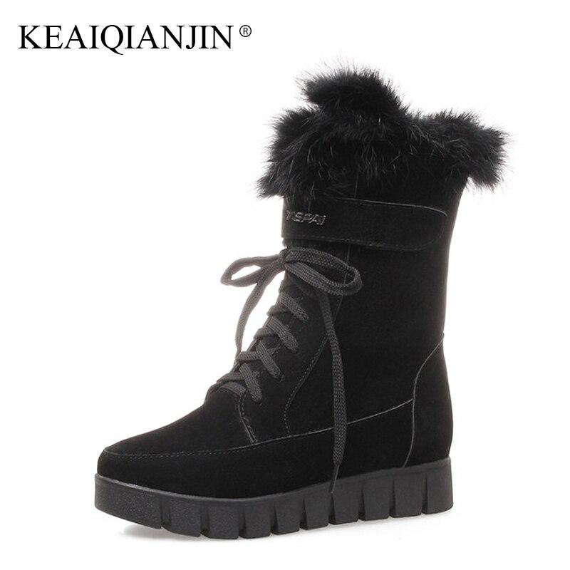 KEAIQIANJIN Woman Faux Suede Chelsea Boots Winter Plus Size 33 - 43 Plataforma Gothic Shoes Lace Up Bottine Martins Botas 2018 ботинки la bottine souriante la bottine souriante la062awxnm80