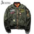 Hot Sale Mens Primavera Piloto MA1 Bombardeiro Jaqueta Militar Fina exército Flying Tigers Legal do Basebol Jaqueta de Vôo Plus Size M-4XL MA131