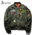 Hot Sale Mens Spring MA1 Pilot Bomber Jacket Thin Military Army Flying Tigers Cool Baseball Flight Jacket Plus Size M-4XL MA131