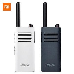 Image 1 - XIAOMI Mijia BeeBest A208 Handheld Walkie Talkies Blue 3350mAh 5W 1 5KM Two Way Radio for Outdoor Indoor Building Security