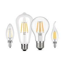 220 В светодиодный лампочка накаливания E27 ретро лампа Эдисона E14 винтажный Декор ампулы светодиодный светильник лампа ретро лампа замена лампы накаливания