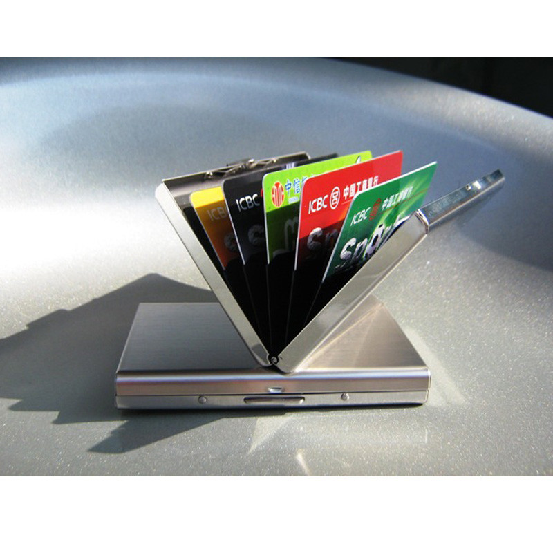 Rfid Credit Card Holder Stainless Steel Business Card Case Metal ...