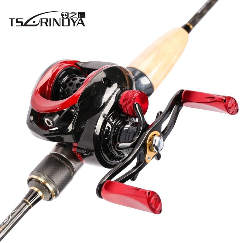 TSURINOYA Fishing Lure Combo With Rod Reel Line Bait 1.89m UL Baitcasting Rod XF-50 Casting Reel 100m PE line Spoon Rod combo