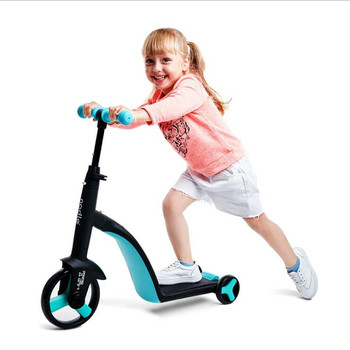 Children's scooter balance car scooter baby multi-function tricycle 3 in 1 baby car stroller wheels bicycle Kids Toys Gifts
