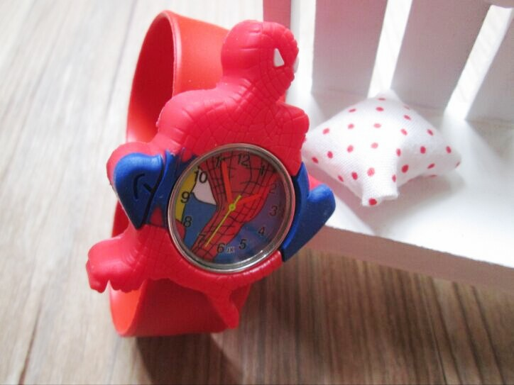 Hot Sale 1pcs/lot Kids' Spiderman Cartoon 3D Slap Watch