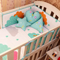 1 шт. 200x28 см Кроватки Бамперы Хлопок Детская Кровать Бампер Лайнер Наборы Детской Кроватки Кровать Вокруг Протектор Trojan звезды оставляет дерево волна