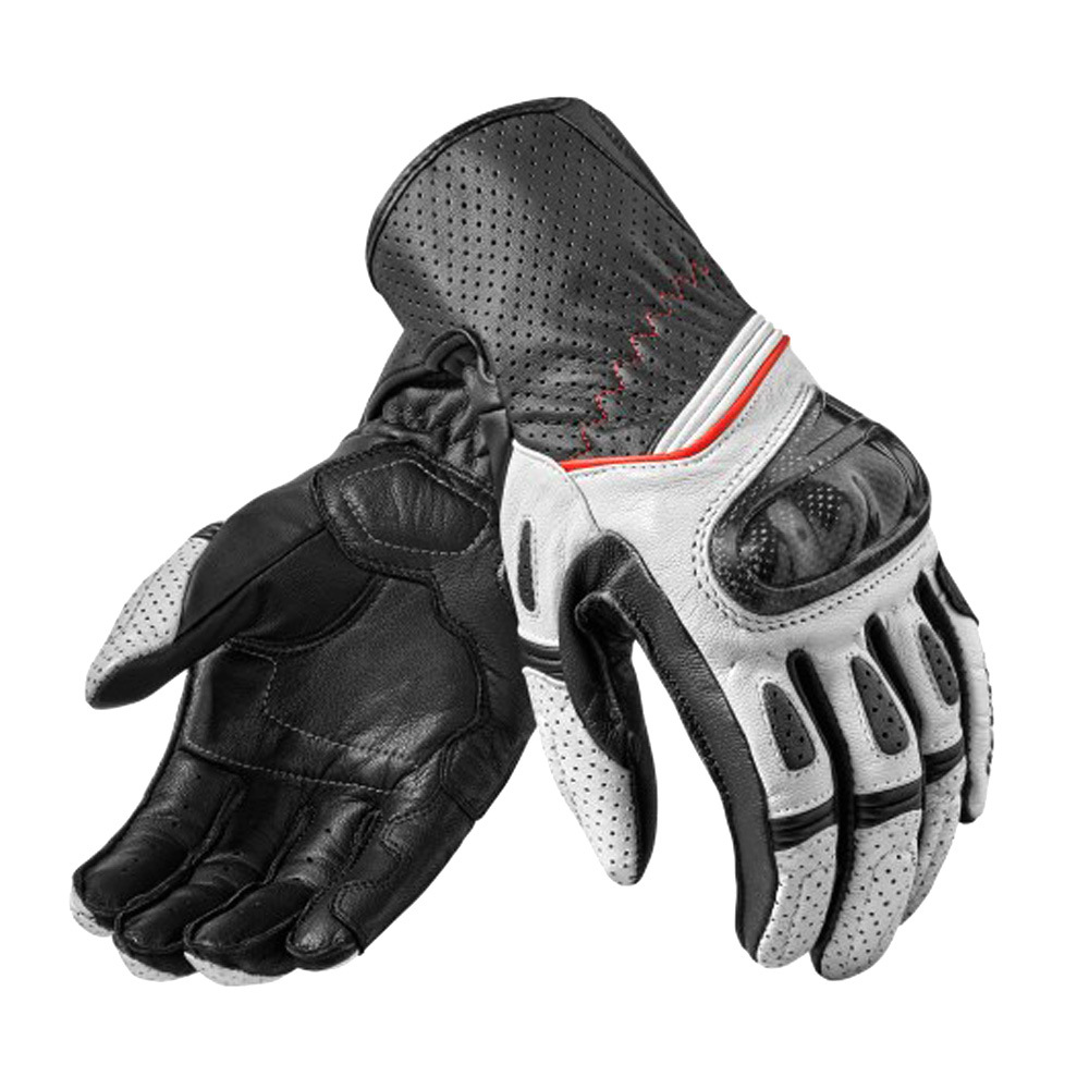 New Arrival! Black/Red/White 2019 Genuine Leather Motorcycle Motorross Racing Riding Gloves leather gloves motorcycle gloves roa