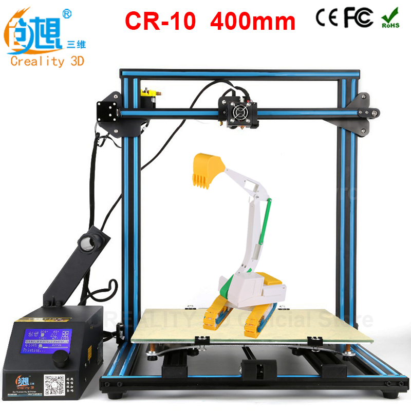 2017 LCD DIY CREALITY 3D Metal Printer CR-10, Large Printing Size 400*400*400mm 3d-Printer 3d Printer Kit Filament SD Card original anycubic 3d pinter kit kossel pulley heat power big size 3d printing metal printer fast shipping from moscow