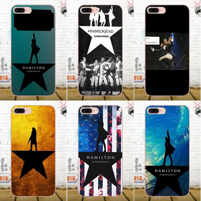 hot sale online 49f4c 2651b Soft Case Capa Cover Hamilton Musical Lyrics For Apple iPhone X 4 4S 5 5C  SE 6 6S 7 8 Plus Galaxy Grand Core II Prime Alpha-in Half-wrapped Case from  ...