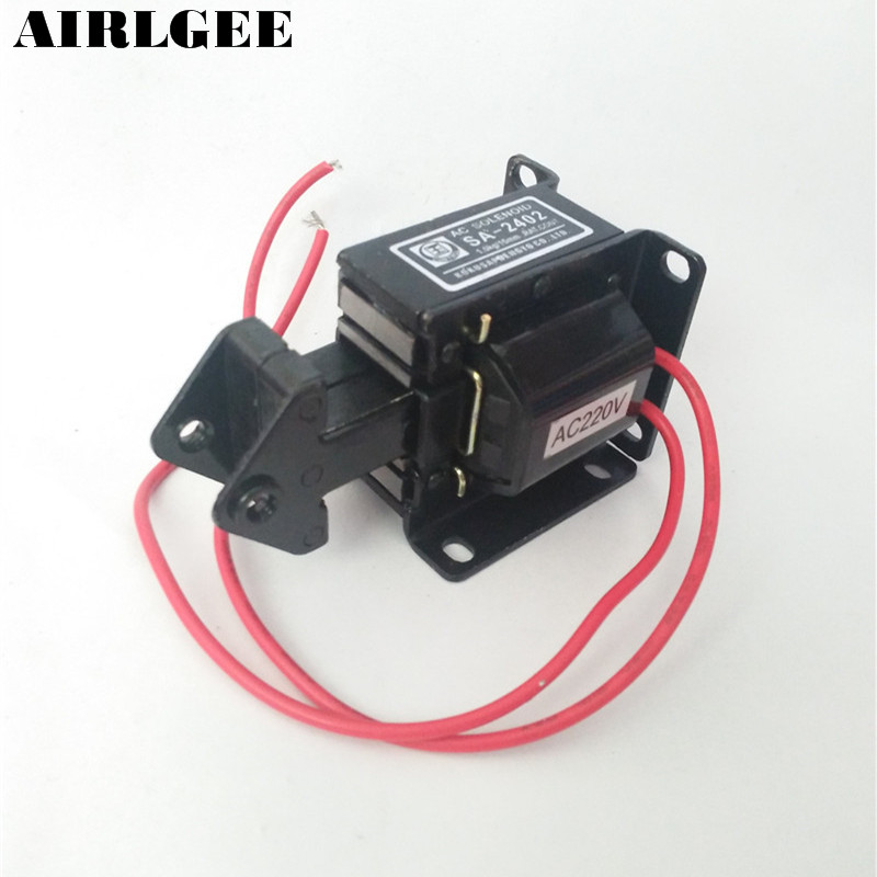 SA-2402 Stroke 15mm 1.0Kg Force Circuit Controlled AC Solenoid Tractive Electromagnet Free shipping  цены