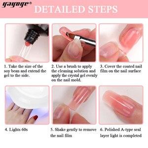 Image 4 - Yayoge Poly Gel Nail Kit Gel Nail Polish Set With Lamp Acrylic Poly Builder Gel Nail Art Gels For Nail Extensions Set