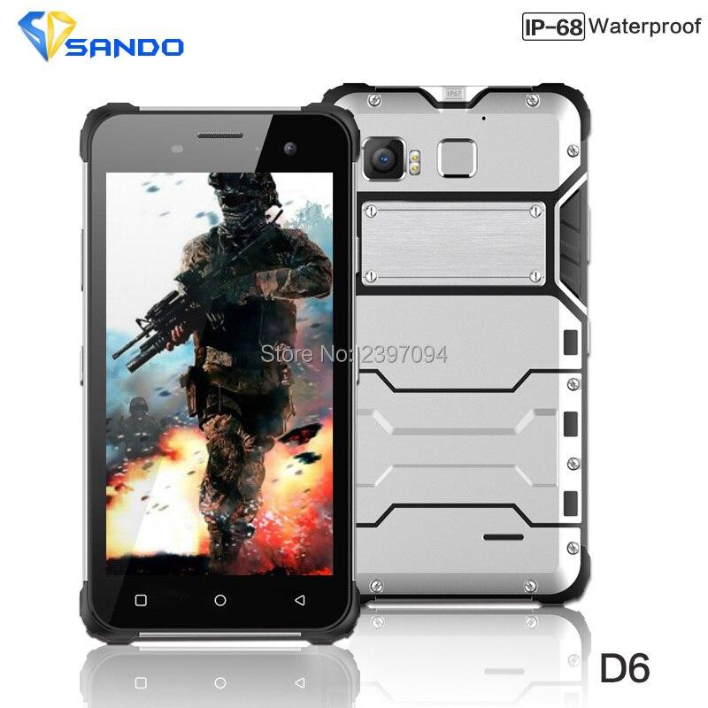 JEASUNG D6 Téléphone Robuste IP68 Octa base Android 6.0 Étanche 4G LTE Antichoc 4G RAM 64G ROM 13MP NFC D'empreintes Digitales Magnétique OEM