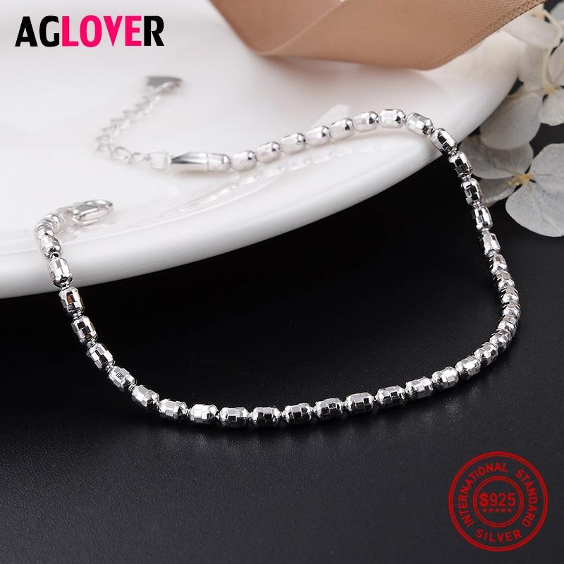 925 Sterling Silver Customized Minimalist Fine Sweet Bead Bracelets Female Temperament Women Charm Jewelry in Bracelets Bangles from Jewelry Accessories