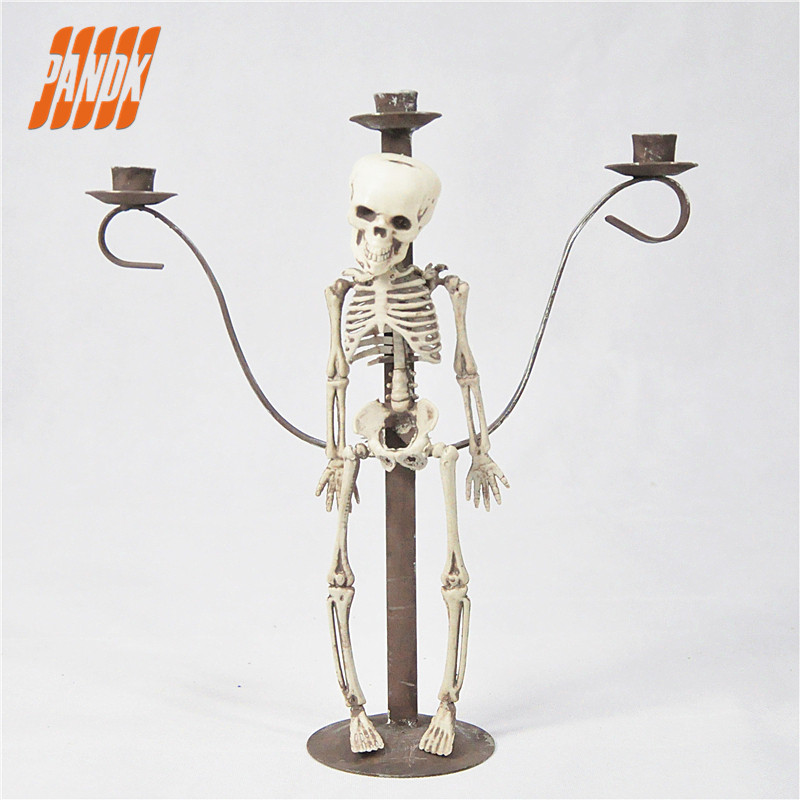 Spooky Halloween Candle Holder Decoration Haunted House ...