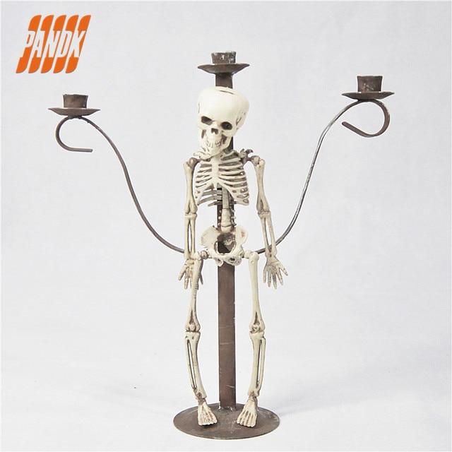 Spooky Halloween Kerzenhalter Dekoration Spukhaus Dekoration Statue ...