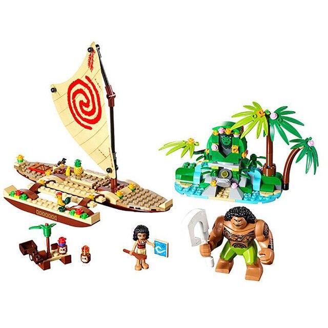 LEPIN 25003 Princess Moana Ocean Voyage Friends Series Girl Model Building Blocks Sets Classic Bricks Kids Toys For Children