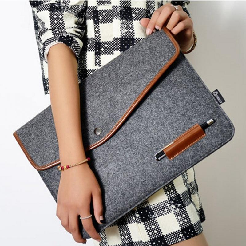 4 size New Fashion Soft Sleeve Bag Case For Macbook 11 12 13 15 Laptop Anti-scratch Cover For Mac book 13.3 inch