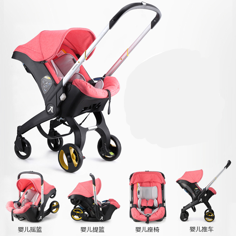Baby Stroller 4 3 in 1 With Car Seat stroller High Landscope Folding Baby Carriage For Child From 0-3 Years Prams For Newborns baby stroller 3 in 1 high landscape baby carriages for kids with baby car seat prams for newborns pushchair baby car
