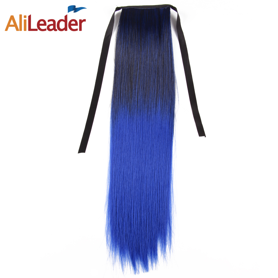 Alileader Long Straight Clip In Hair Ponytail Hairpieces