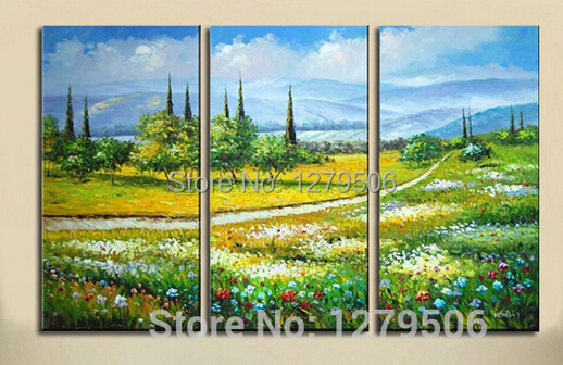 Hand Painted Abstract Oil Paintings On Canvas Outdoor Scenery Hang ...