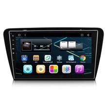 """10.2 """"4 ядра Android 6.0 автомобиль Радио DVD GPS навигация Центральный Мультимедиа для Skoda Octavia A7 7 Yeti Rapid 2013 2014 2015"""