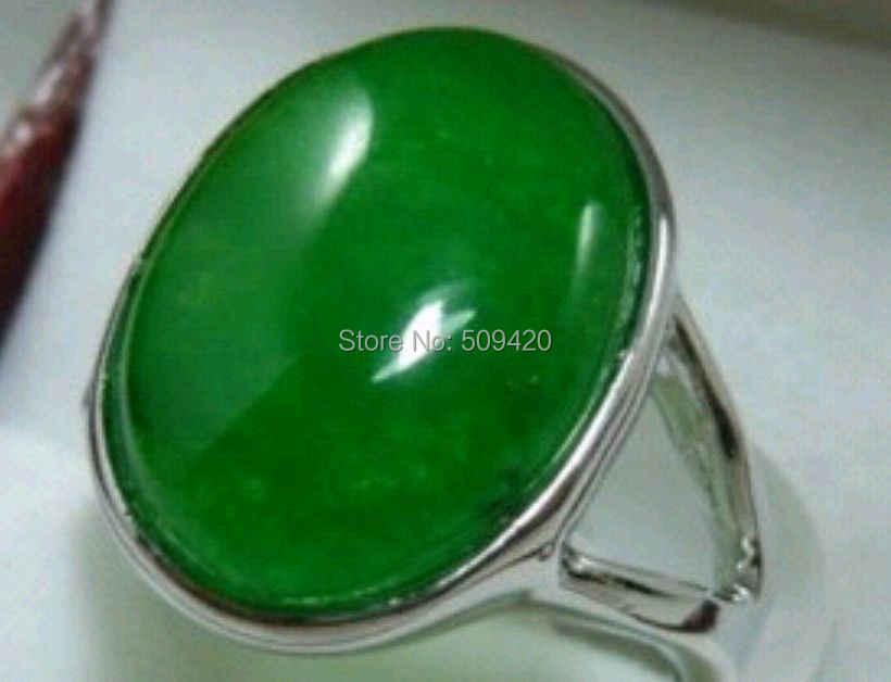 XFS2014102 >>> สีเขียวสวยงามหยก lady แหวนขนาด 7 8 9