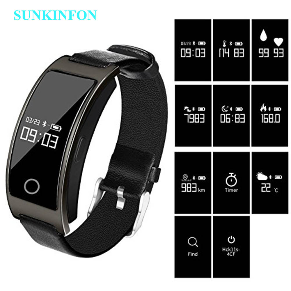 SK11S Smart Band Blood Pressure Heart Rate Monitor Wrist Watch Intelligent Bracelet Fitness Bracelet Tracker Pedometer Wristband