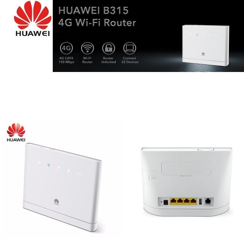 все цены на HUAWEI B315 LTE Cat 4 Up to 150 Mbps,WiFi 802.11b/g/n,Supports 32 simultane