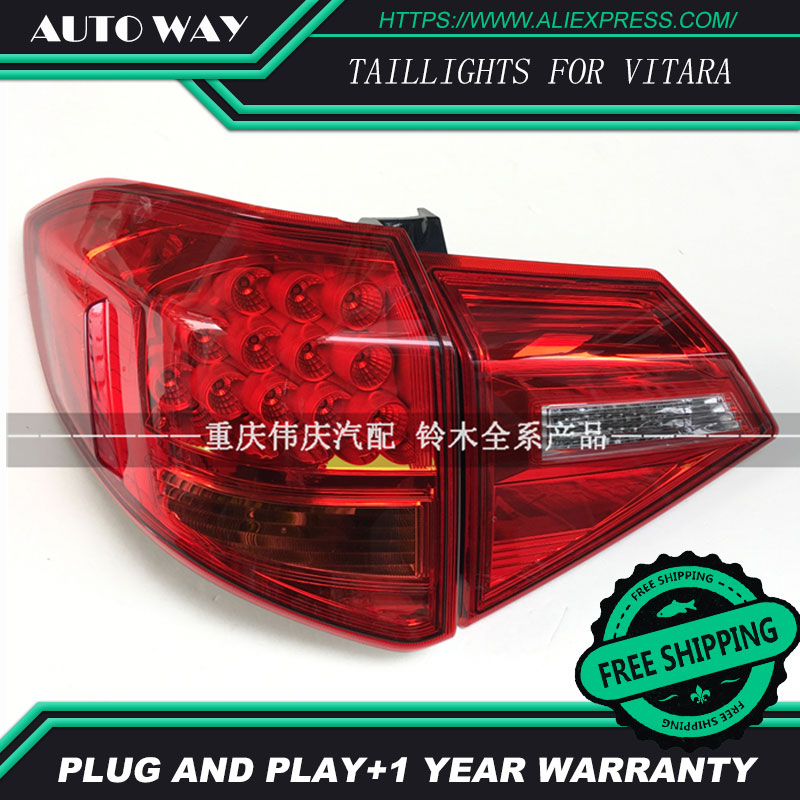 Free shipping Tail light LED rear lights parking taillights LED taillight case for Suzuki Vitara 2016 2017 2018 Car styling