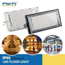 DKG Led Flood Light 50W AC 220V 240V Waterproof IP65 Outdoor Spotlight Led Reflector Outdoor Floodlight Wall Lighting