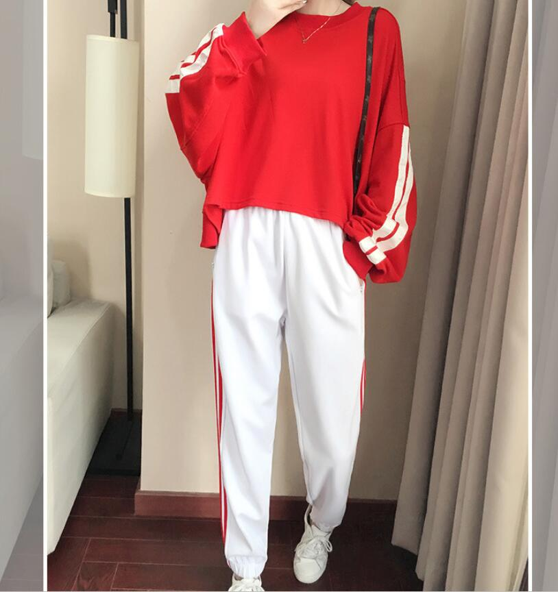 Casual suit female spring and autumn 2018 new autumn loose long-sleeved sweater trousers two sets of tide 1