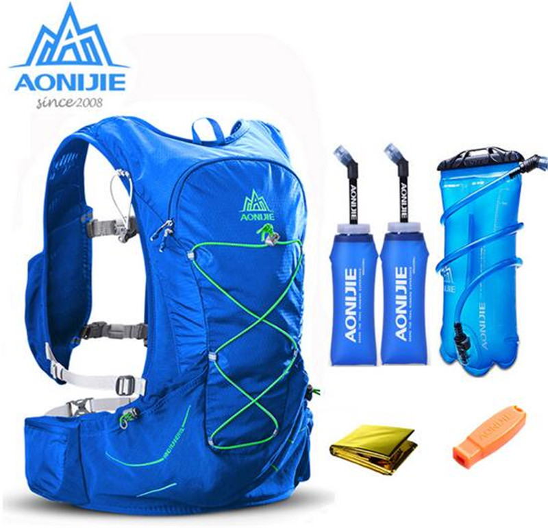 AONIJIE 15L Upgraded Running Bag Outdoor Marathon Reflective Hiking Cycling Backpack Hydration Vest Pack Men Women