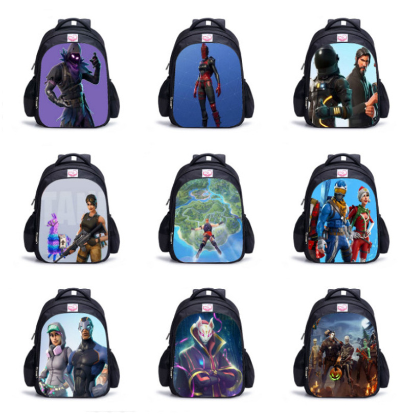 Fashion Game Backpack 3D Battle Royale Fortnit Book Bags Backpack Boys Girls Teenagers Print Bagpack