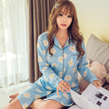 Spring Autumn 2017 Nightgown Women Lovely Long Nightgowns dresses Women Causle Long Sleeve Comfortable Cotton Nightdress