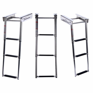 Image 2 - 3 Steps Pulley Stainless Steel Under Platform Ladder for  boat accessories marine