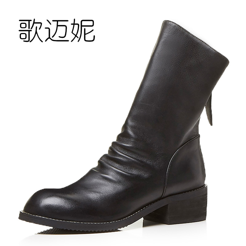 womens winter ankle boots women botas mujer boot botines mujer 2017 bota de neve ladies black genuine leather punk boots laarzen platform boots autumn ankle boots for women luxury sexy martin boots botas femininas de inverno botines mujer 2017 ladies shoes